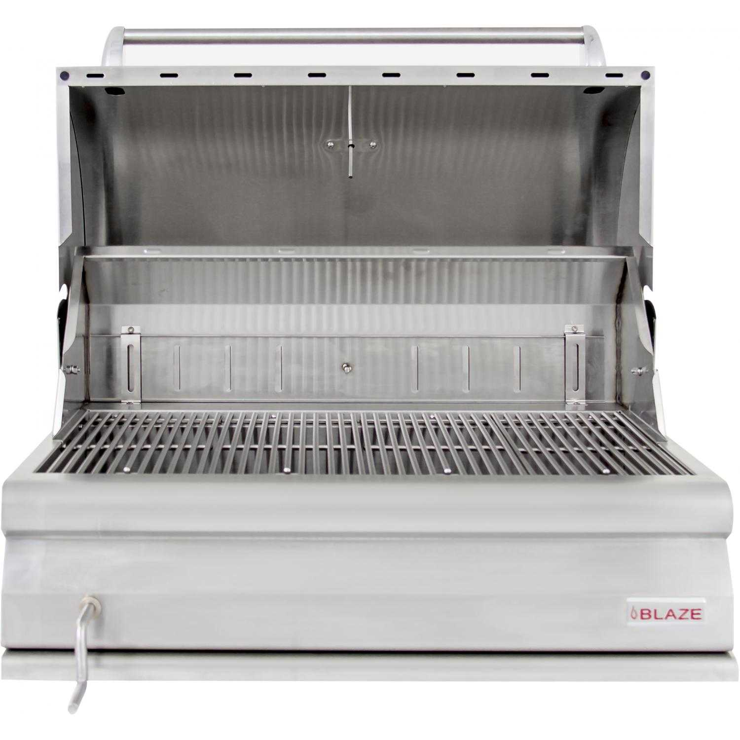 Blaze 32 Inch Built In Stainless Steel Charcoal Grill With