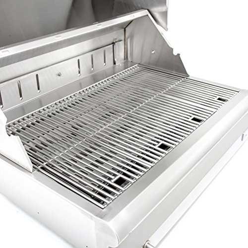 blaze 32inch builtin stainless steel charcoal grill with adjustable charcoal tray - Stainless Steel Charcoal Grill