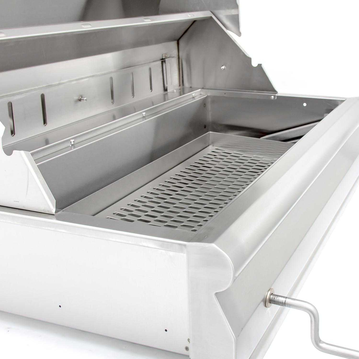 Blaze 32 Inch Built In Stainless Steel Charcoal Grill With Adjustable ...